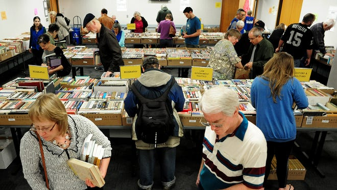 Shoppers can browse hundreds of books at Friends of the Salem Public Library Spring Book Sale April 8-10.