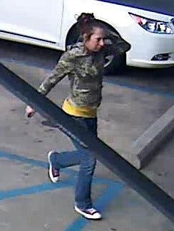 The Scott Police Department is asking for the public's help in identifying this woman who may have stolen items from the Goodwill store on Alfred Street.