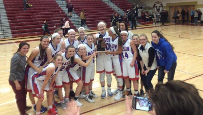 The Mason girls basketball team won the district title Friday night.