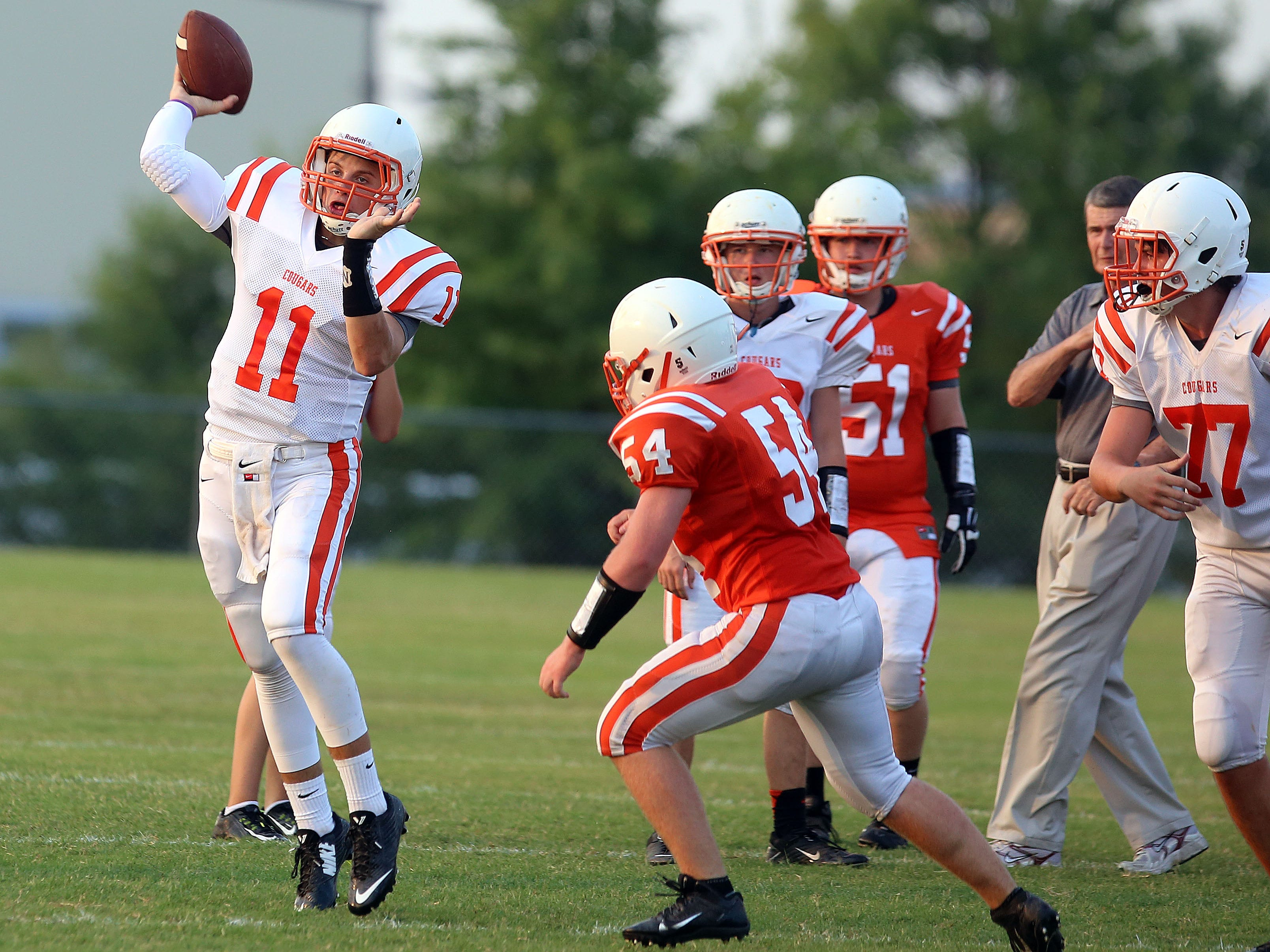 MTCS quarterback Justin Winn enters his second full season as the Cougars' startering quarterback.