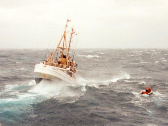 "The Coast Guard cutter Tamaroa during 1991's film ""The"
