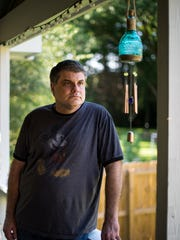 Doug Griffin at his home in Franklin, Tenn., Friday, June 30, 2017. To honor one of his late mother's last wishes, Griffin will be sending his mom's ashes skyward with fireworks on July 7.