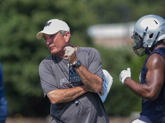 Monmouth head coach Kevin Callahan prepares his team for their Sept. 2 opener against Lafayette.