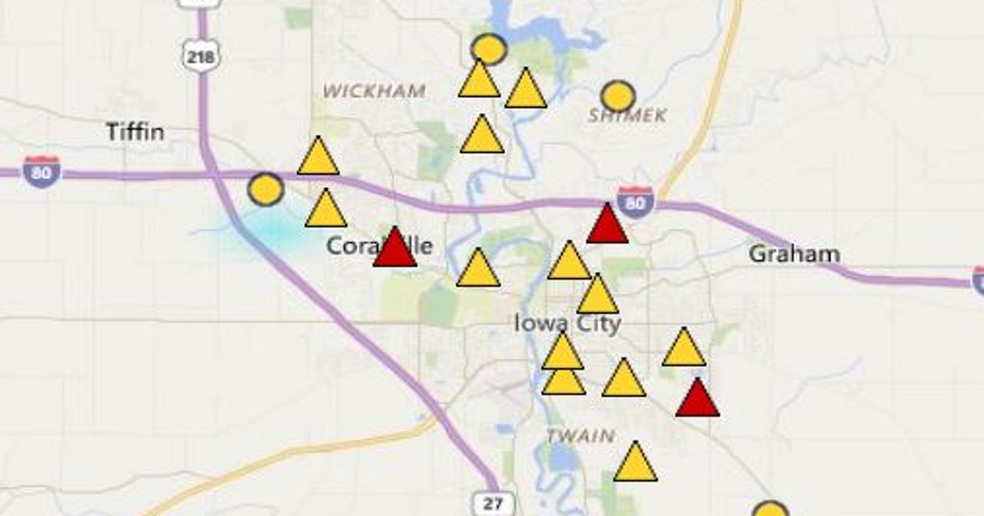 Power Restored After 2 Hour Iowa City Area Outage Leaves Thousand In