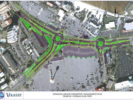Proposed traffic plan for Pensacola Beach
