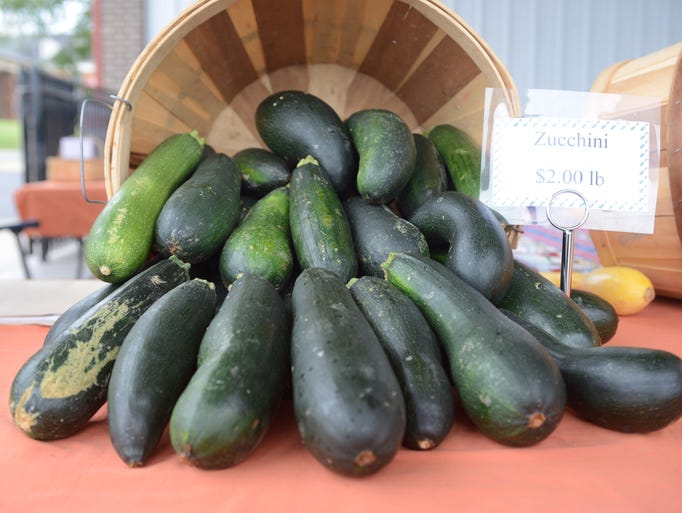 Fresh produce at the Gallatin Farmers Market on Saturday, June 28.