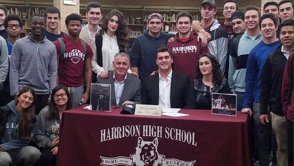 Harrison's Zef Djurasevic signed his National Letter
