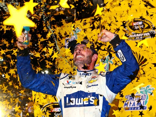 Chase finale: Jimmie Johnson celebrates in Victory