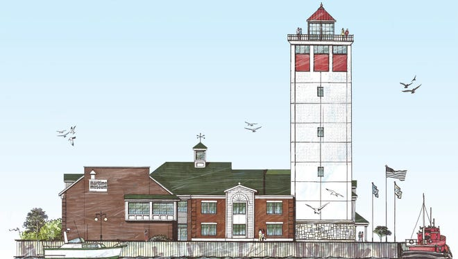Ab artist's rendition of the planned expansion of Door County Maritime Museum in Sturgeon Bay.