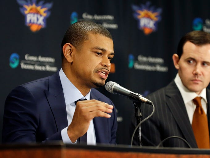 Earl Watson is introduced as the Phoenix Suns new head