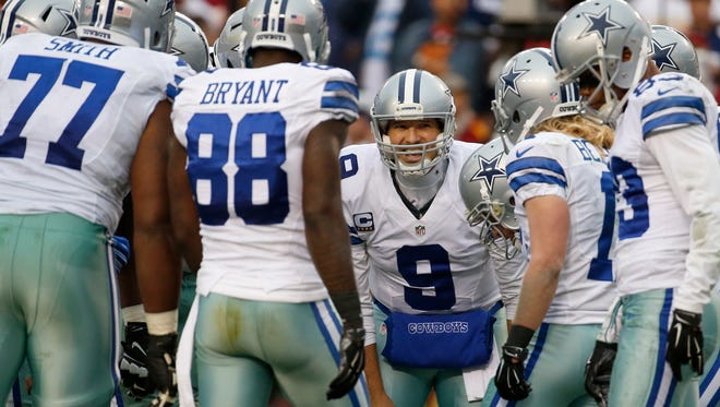 Dallas quarterback Tony Romo will (9) will try and lead the Cowboys past the Detroit Lions.