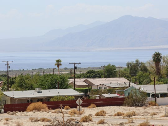 The Riverside County community of North Shore, along the Salton Sea.