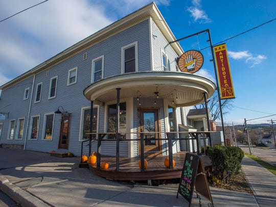 The Hired Hand Brewing Company tap room in Vergennes