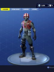"""Cody Sipe's """"Top Gun""""-inspired """"Fortnite"""" outfit."""