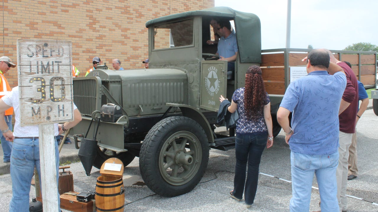 The Texas Department of Transportation is celebrating its centennial milestone by touring a restored truck from its original fleet around the state. On Monday, the truck was displayed outside of the department's Corpus Christi office. Chris Caron, Corpus Christi's district engineer, led a news conference celebrating the department's achievement.