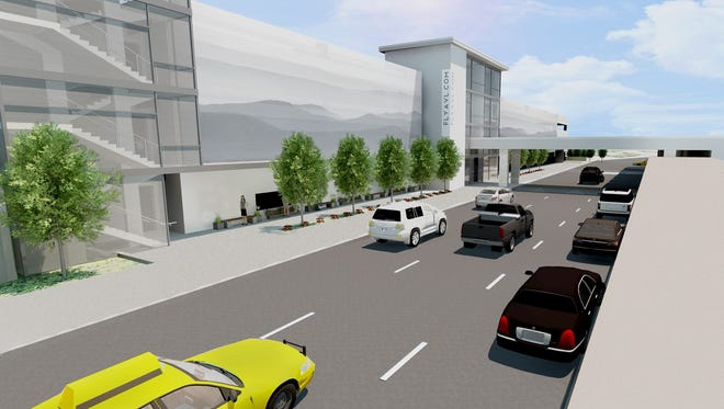 This artist's rendering shows what a parking deck at Asheville Regional Airport will look like once it is completed in a year or so.