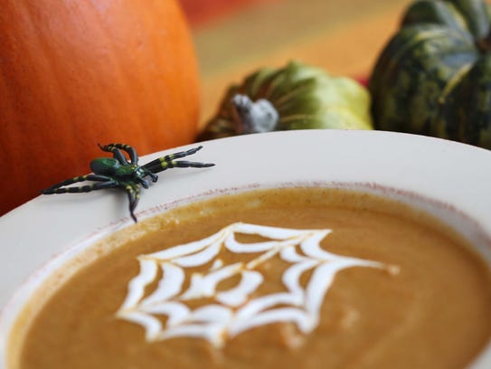 Curry pumpkin soup. From chef Justin Vinnie Link of