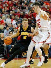 Feb 10, 2018; Columbus, OH, USA; Iowa Hawkeyes guard