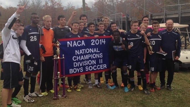 The Veritas Christian Academy boys soccer team won a national championship on Friday in Dayton, Tenn.