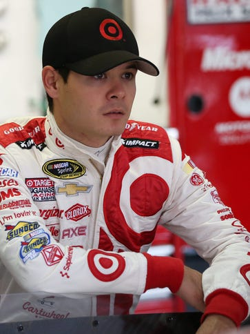 2014 Sprint Cup rookie of the year Kyle Larson missed