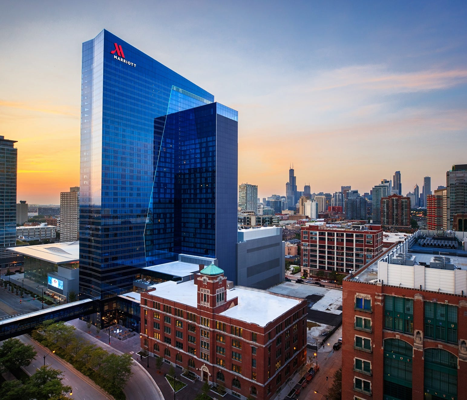The Marriott Marquis Chicago is the largest Marriott International property to open this year.