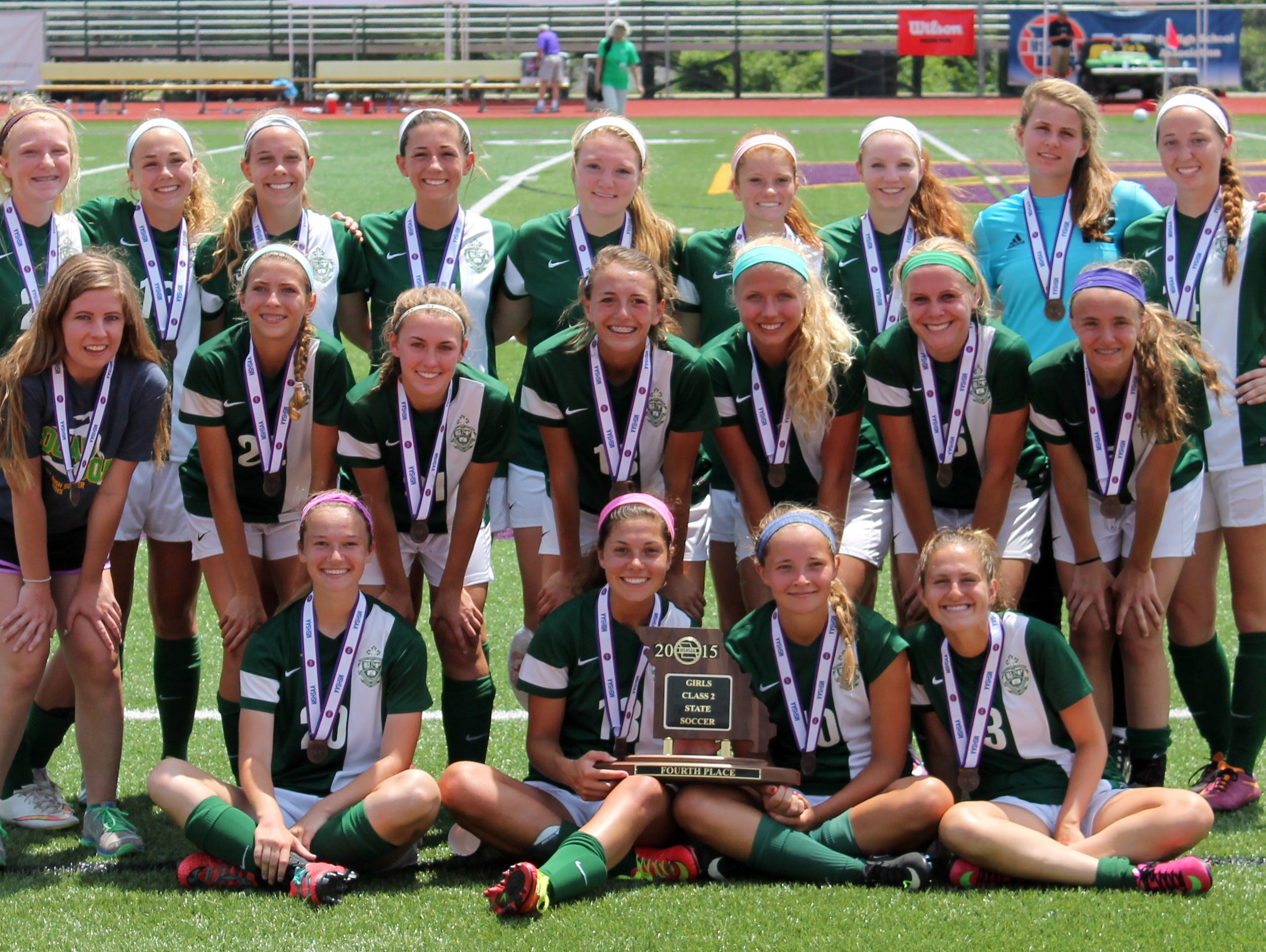 Springfield Catholic placed fourth in the 2015 Class 2 girls soccer playoffs. The 2016 Irish are ranked fourth in the first state coaches' poll of the season.