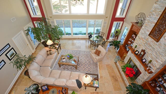 940 Paradise Beach Circle, a view of the open living space.