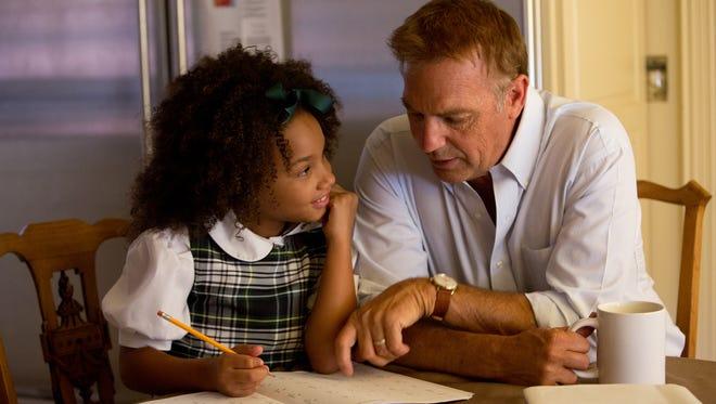 "Kevin Costner and Jillian Estell star in Relativity Media's ""Black or White."""