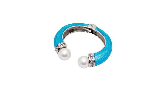 Turquoise bangle, $12, Lee Tracy.