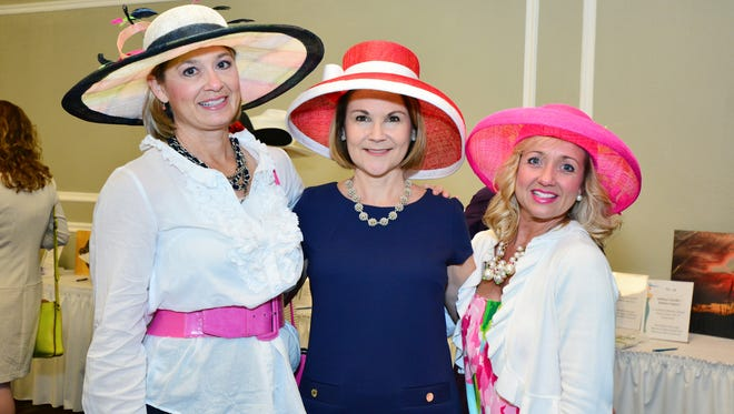 AJ Traylor, Cathy Noland and Connie Barnes at the Art of Fashion, benefiting Covenant Hospice.