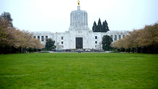 The Oregon State Capitol in Salem on Monday, March 23, 2015.