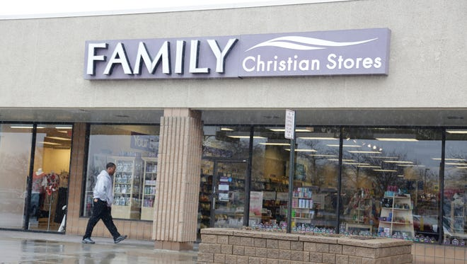 The Grand Rapids-based Family Christian bookstore chain filed for Chapter 11 bankruptcy in February. Its Troy store is pictured here.