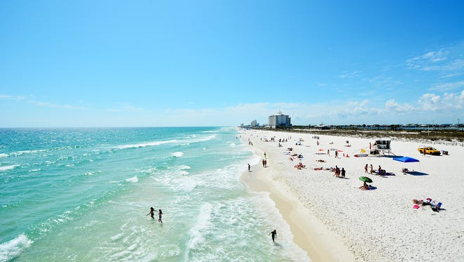 A view down Pensacola Beach.