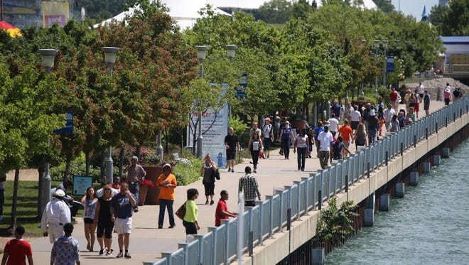 Thousands attend GM River Days in 2014 on the Detroit Riverfront.