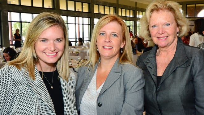 Margie Moore, Jeanne Ford and Mary Catherine Harper at the White Rose Luncheon to benefit FavorHouse.