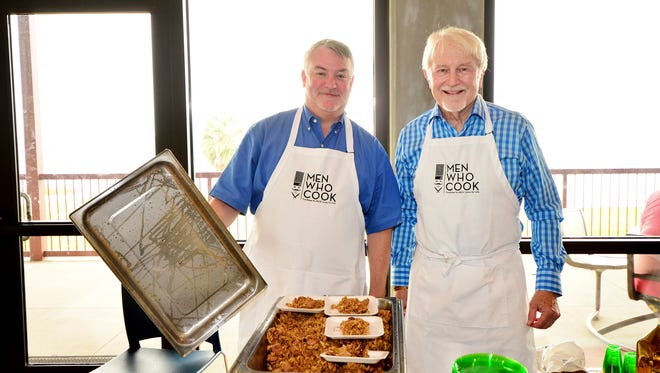 Chris Ferry and Barry Beroset at the Men Who Cook event for the PACE Center for Girls.