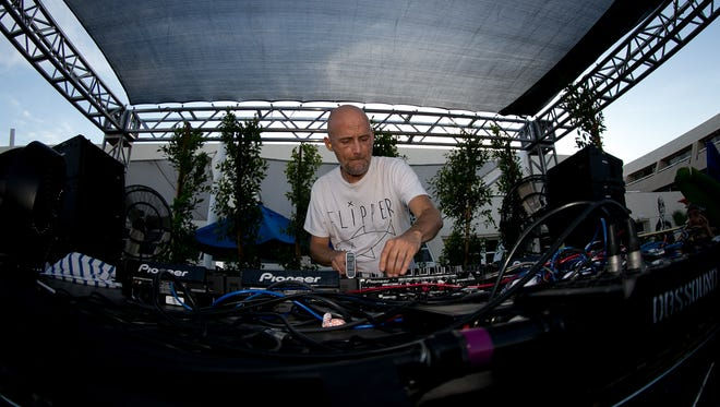 Moby performs at Splash House Palm Springs Pool Festival held at Hard Rock Hotel Palm Springs on Saturday, June 14, 2014.