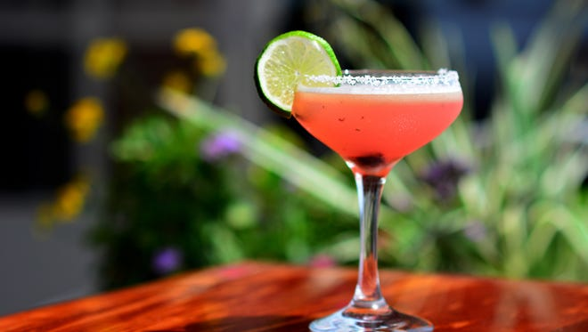A Blueberry Paloma at Jaco's Bayfront Bar & Grill.