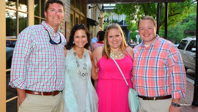 Taylor Cash, Ansley Cash, Haley Weaver and Matt Weaver at Dinner with Strings Attached at Jackson's.