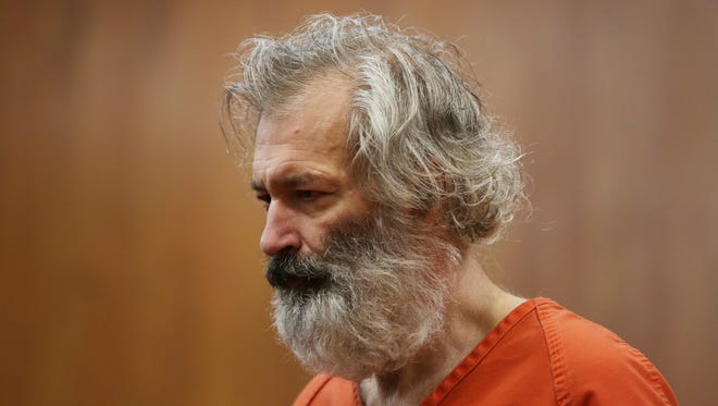 Jeffrey Maurer, 54, is charged with first-degree premeditated murder in the deaths of his parents William Maurer, 87, and  Gayle Maurer, 85, during his trial in front of Oakland County Circuit Judge Colleen O'Brien at the Oakland County Circuit Court in Pontiac on Monday, July 27, 2015.