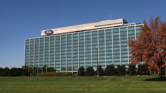 The Ford Motor Company World Headquarters on Michigan Avenue in Dearborn.