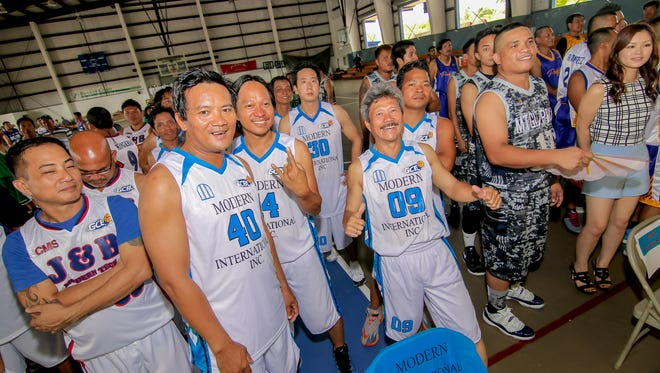 The opening ceremony of the Guam Construction Basketball League at Yigo Gym on Aug. 02.