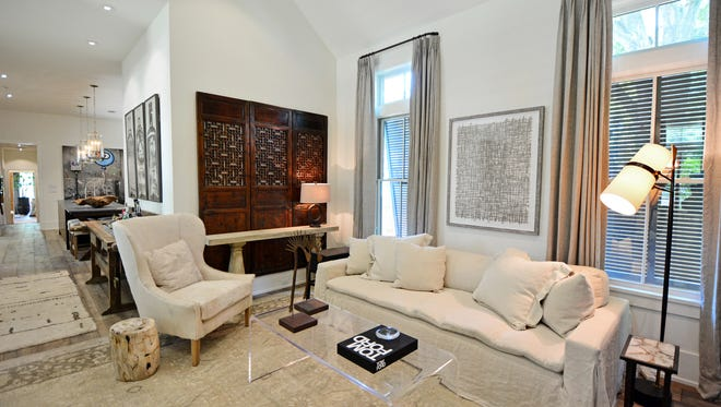 The living room is one of Quinn Stinson's favorite in the home. It's a space to entertain and relax.