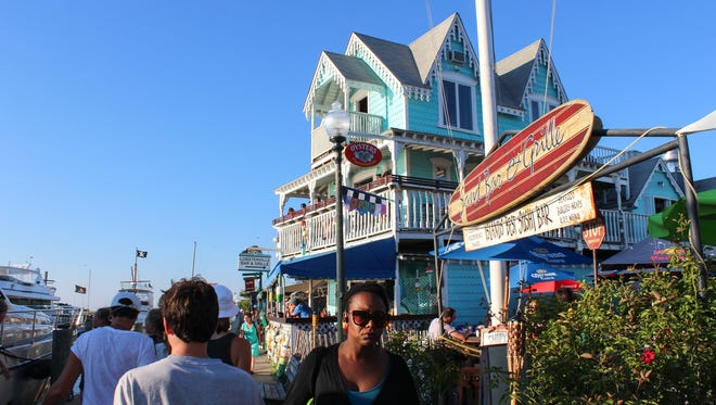 Near the harbor in Oak Bluffs, summer means big crowds on Martha's Vineyard.