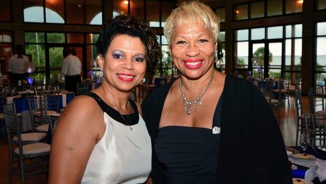 Donna Hornbuckle and Jacqueline Miles at the Pensacola Voice 50th Anniversary Black Tie Affair.