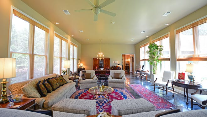 3331 East Kingsfield Road, the open living area is filled with natural light.