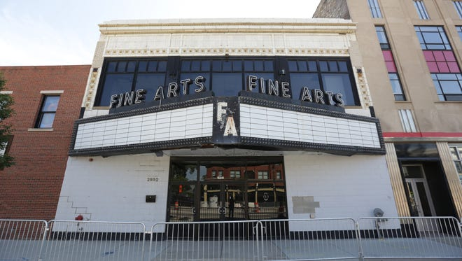 The Fine Arts Theatre on Woodward Avenue in Detroit was designed by C. Howard Crane and is now for sale.