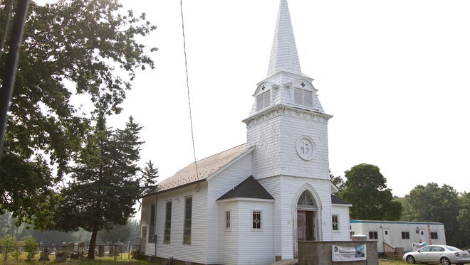 The historical Cornerstone Presbyterian Church dating back to 1865 is being rehabilitated by church members.Jackson, NJWednesday, September 2, 2015@dhoodhood