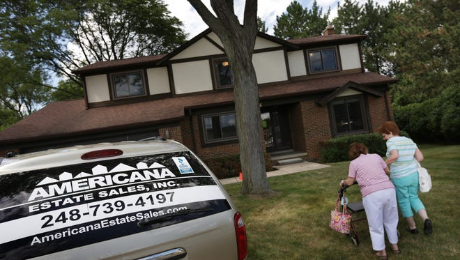 Americana Estate Sales was hired by Cindy Brody to sell some of her mother's belongings in Southfield on Monday, August 3, 2015.