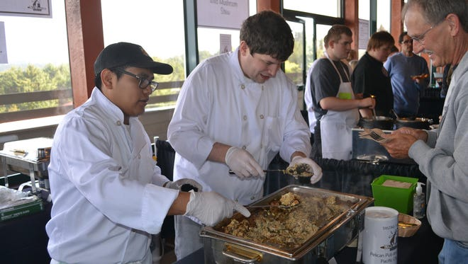 Members of the public can sample mushroom creations from competing chefs and vote for their choice.